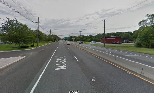 Route 38 through Maple Shade.