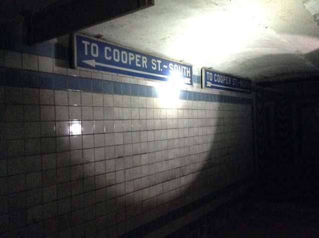 Just like at other PATCO stations, the end of the pedestrian concourse area gives you a choice of corners to exit from.