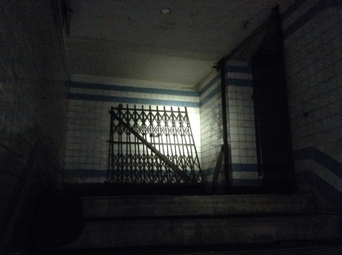 Old gate and stairwell.