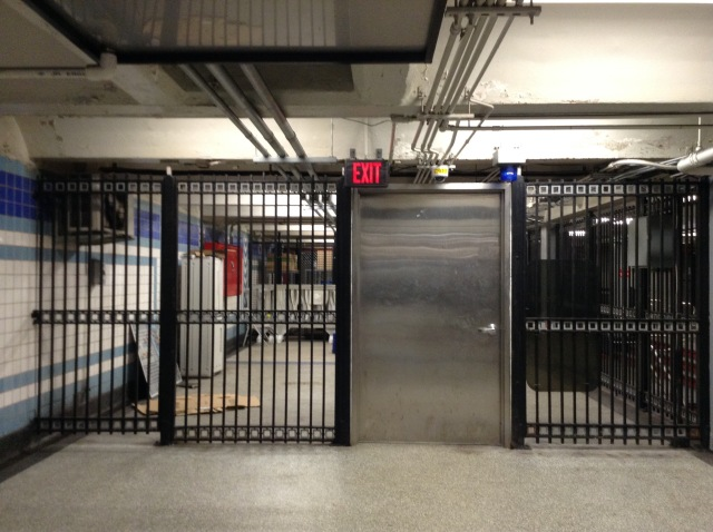 This is the gate you see just before going through the present day turnstiles.