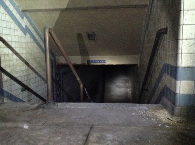 Stairwell down to the tunnel to Arch Street.