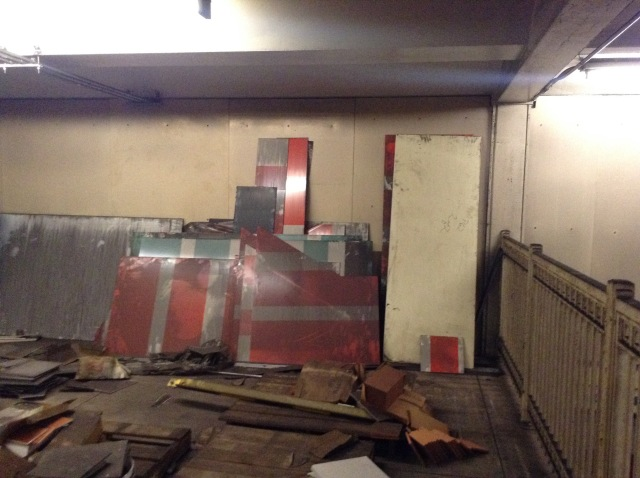 Extra paneling for PATCO stations.