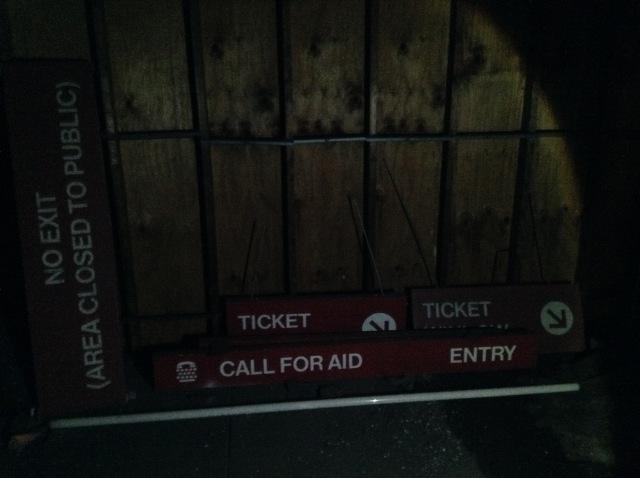 Extra station signage.
