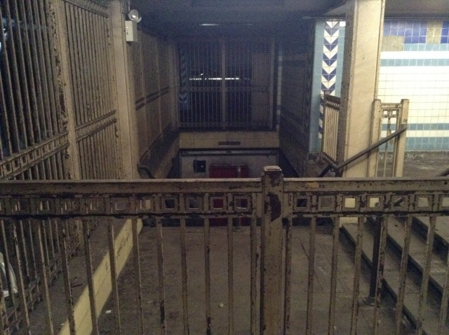 Looking back toward the open end of the station. This is what's behind the big gray door your saw in the first photo.