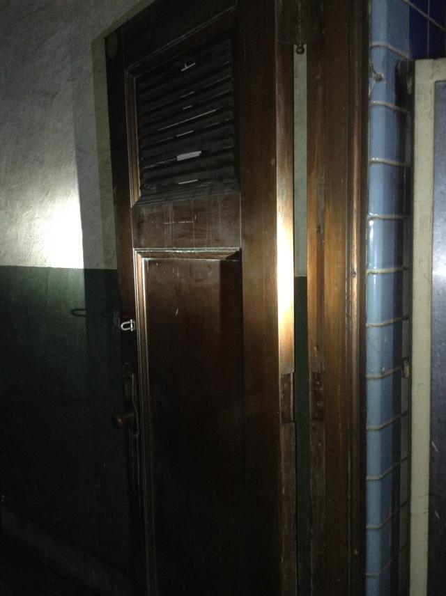 Old storage room door.