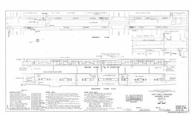 Original, 1934 City Hall station plan.